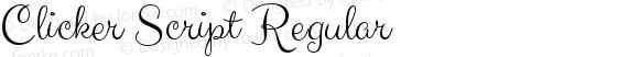 Clicker Script Regular preview image