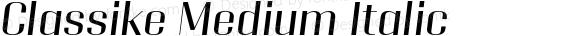 Classike Medium Italic