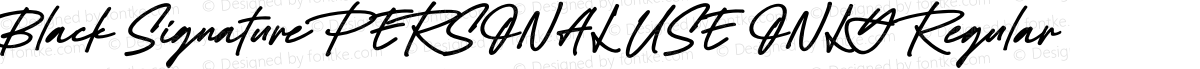 Black Signature PERSONAL USE ONLY Regular