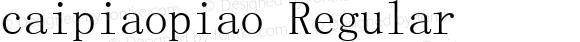 caipiaopiao Regular