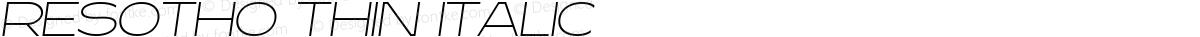 Resotho Thin Italic