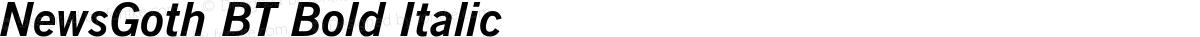 NewsGoth BT Bold Italic