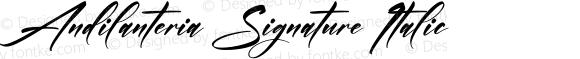 Andilanteria Signature Italic