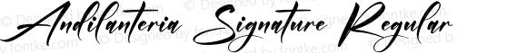 Andilanteria Signature Regular
