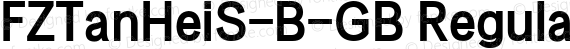 FZTanHeiS-B-GB Regular preview image