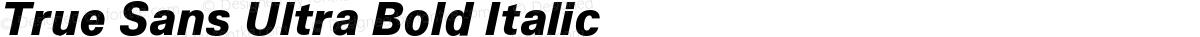 True Sans Ultra Bold Italic