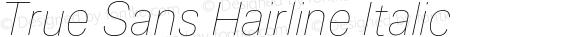 True Sans Hairline Italic