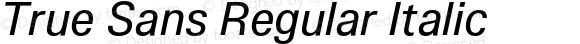 True Sans Regular Italic