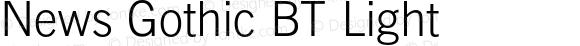 News Gothic BT Light