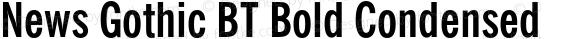 News Gothic BT Bold Condensed