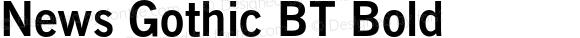 News Gothic BT Bold