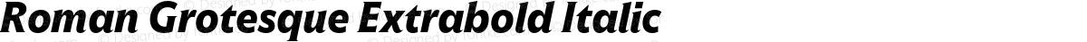 Roman Grotesque Extrabold Italic