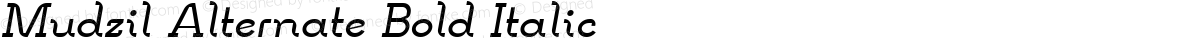 Mudzil Alternate Bold Italic