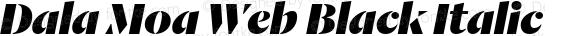Dala Moa Web Black Italic