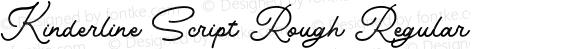 Kinderline Script Rough Regular