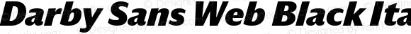 Darby Sans Web Black Italic