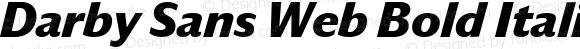 Darby Sans Web Bold Italic