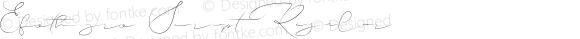 Efothyro Script Regular