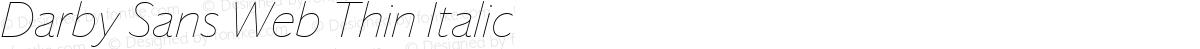 Darby Sans Web Thin Italic