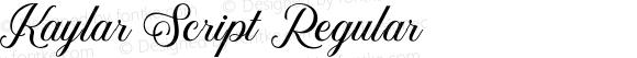 Kaylar Script Regular