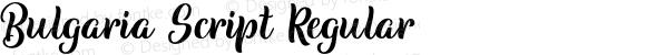 Bulgaria Script Regular