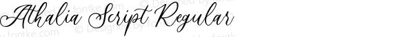 Athalia Script Regular