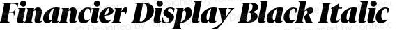 Financier Display Black Italic