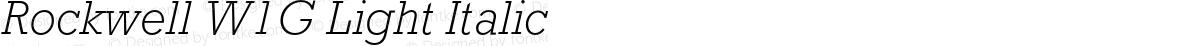 Rockwell W1G Light Italic