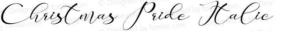 Christmas Pride Italic