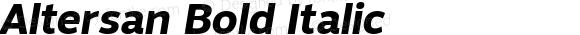 Altersan Bold Italic