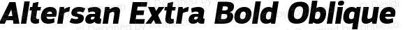 Altersan Extra Bold Oblique