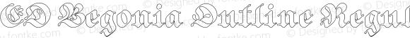 ED Begonia Outline Regular
