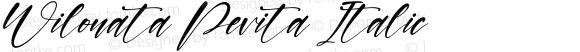 Wilonata Pevita Italic