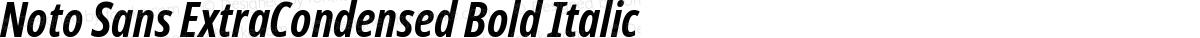 Noto Sans ExtraCondensed Bold Italic