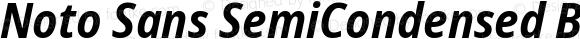 Noto Sans SemiCondensed Bold Italic