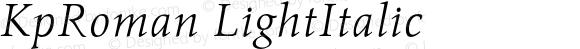 KpRoman LightItalic