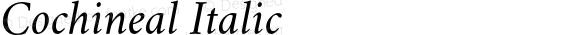 Cochineal Italic