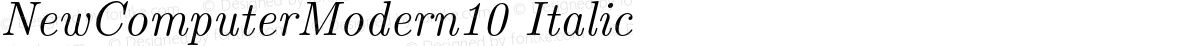 NewComputerModern10 Italic