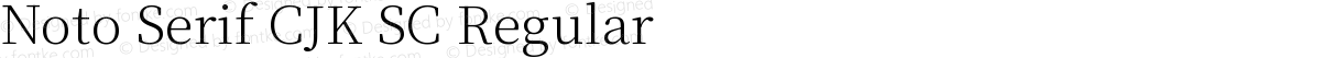 Noto Serif CJK SC Regular