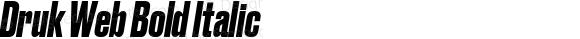 Druk Web Bold Italic