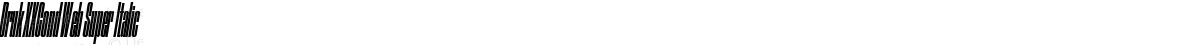 Druk XXCond Web Super Italic