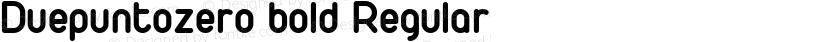 Duepuntozero bold Regular Preview Image