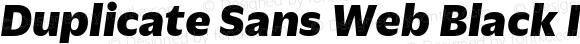 Duplicate Sans Web Black Italic