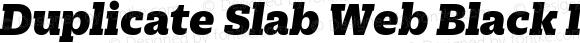 Duplicate Slab Web Black Italic