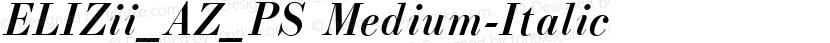 ELIZii_AZ_PS Medium-Italic Preview Image
