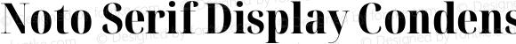 Noto Serif Display Condensed ExtraBold