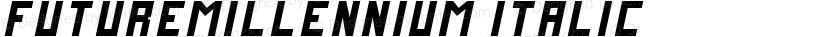 FutureMillennium Italic Preview Image