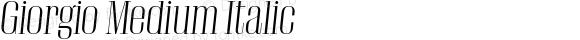Giorgio Medium Italic