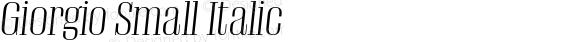 Giorgio Small Italic