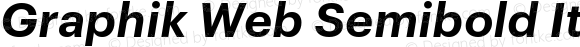 Graphik Web Semibold Italic